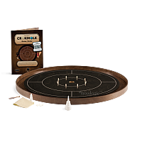 Crokinole TOURNAMENT – Ebony with Walnut ditch