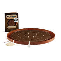 Crokinole TOURNAMENT –Walnut with Cherry ditch