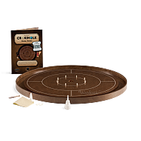 Crokinole TOURNAMENT – Walnut with Walnut ditch