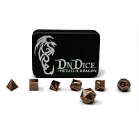 DnDice Copper Metallic Bone Dragon