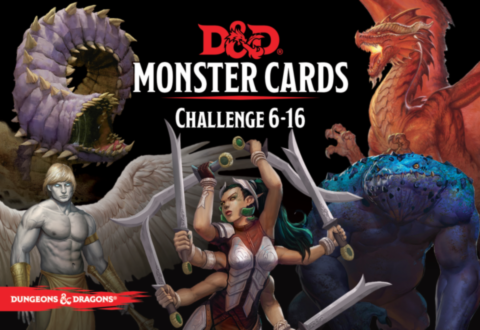 Dungeons & Dragons – Monster Cards: Challenge 6-16 (74 cards)_boxshot