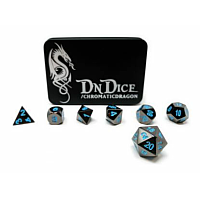 DnDice Solid Zink: Blue Chromatic Dragon