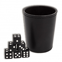 Blackfire Dice - Dice Cup - Black Leather