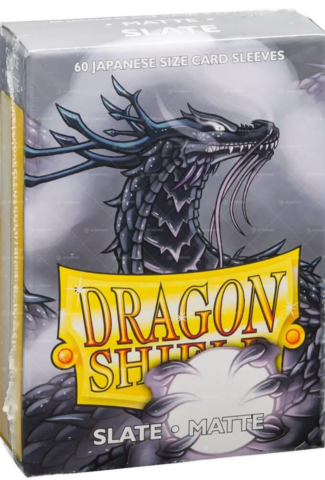 Dragon Shield Small Sleeves - Japanese Matte Slate (60 Sleeves)_boxshot