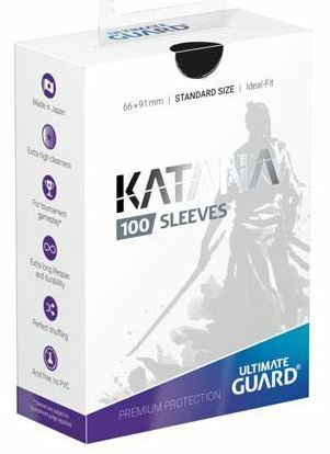 Ultimate Guard Katana Sleeves Standard Size Black (100)_boxshot