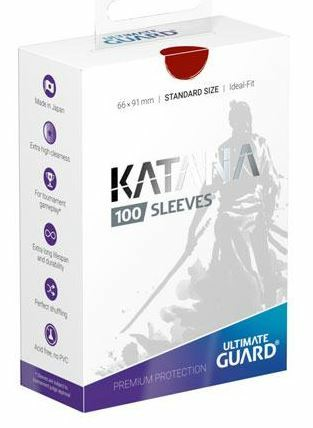 Ultimate Guard Katana Sleeves Standard Size Red (100)_boxshot