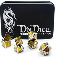 DnDice Solid Zink: Amber Radiant Dragon