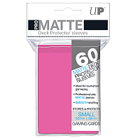 60ct Pro-Matte Bright Pink Small Deck Protectors