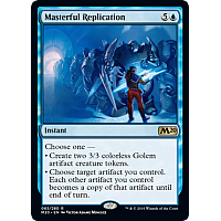 Masterful Replication ( Foil ) (Core Set 2020 Prerelease)