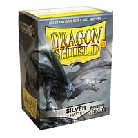 Dragon Shield Matte Non-Glare Sleeves - Silver (100 Sleeves)