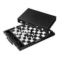 Chess Set / Schack, synthetic leather, field 38 mm (2740)