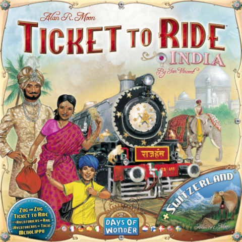 Ticket to Ride Map Collection: Volume 2 - India & Switzerland_boxshot