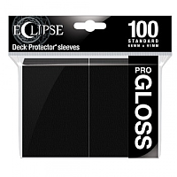 UP - Standard Sleeves - Gloss Eclipse - Jet Black (100 Sleeves)