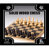 Solid wood chess (schack) - Trä 27x27x7,7 cm