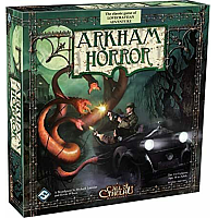Arkham Horror 2nd edition + Innsmouth Horror Expansion  - Lånebiblioteket